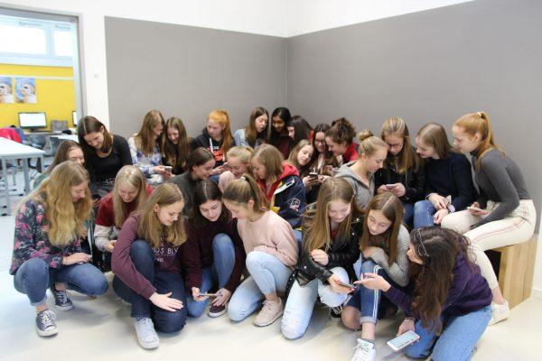Schülerinnen vom Gymnasium Marienberg
